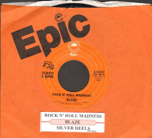 Blaze - Silver Heels/Rock N' Roll Madness (with juke box label and Epic company sleeve) - EX8/ - 45 rpm Records