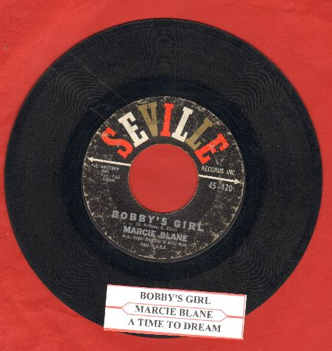 Blane, Marcie - Bobby's Girl/A Time To Dream (with juke box label) - VG7/ - 45 rpm Records