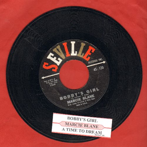 Blane, Marcie - Bobby's Girl/A Time To Dream (with juke box label) - EX8/ - 45 rpm Records