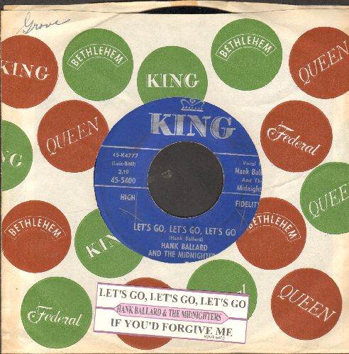 Ballard, Hank & The Midnighters - Let's Go, Let's Go, Let's Go/If You'd Forgive Me (with juke box label and company sleeve) - NM9/ - 45 rpm Records