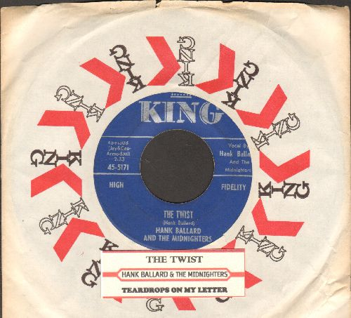 Ballard, Hank & The Midnighters - The Twist/Teardrops On Your Letter (with company sleeve) - EX8/ - 45 rpm Records