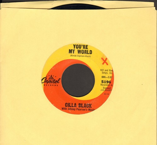 Black, Cilla - You're My World/Suffer Now I Must (wol) - EX8/ - 45 rpm Records