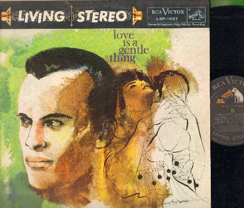 Belafonte, Harry - Love Is A Gentle Thing: Fifteen, Delia's Gone, Green Grow The Lilacs, Turn Around  (Vinyl STEREO LP record) - NM9/VG7 - LP Records