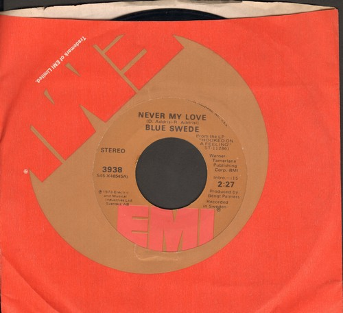 Blue Swede - Never My Love/Pinewood Rally  - EX8/ - 45 rpm Records