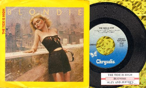 Blondie - The Tide Is High/Suzy And Jeffrey (with juke box label and picture sleeve) - NM9/EX8 - 45 rpm Records