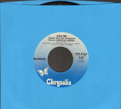 Blondie - Call Me (Theme From American Gigolo)/Call Me (Instrumental) - NM9/ - 45 rpm Records