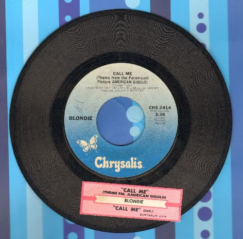 Blondie - Call Me (Theme From American Gigolo) (with  juke box label) - VG7/ - 45 rpm Records