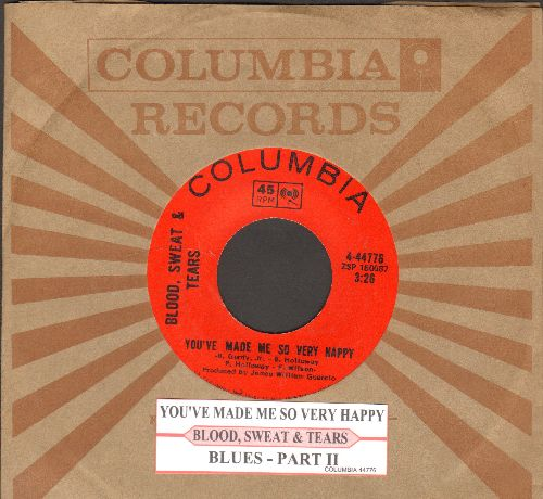 Blood, Sweat & Tears - You've Made Me So Very Happy/Spinning Wheel (with juke box label and Columbia company sleeve) - EX8/ - 45 rpm Records