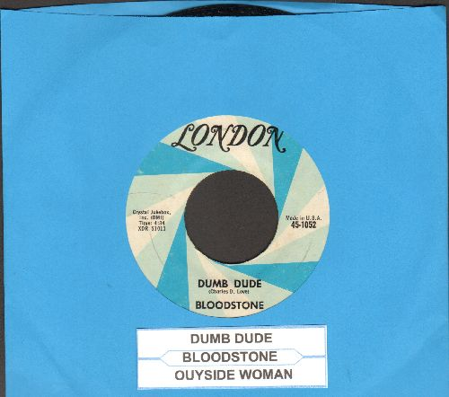 Bloodstone - Dumb Dude/Outside Woman (with juke box label) - EX8/ - 45 rpm Records