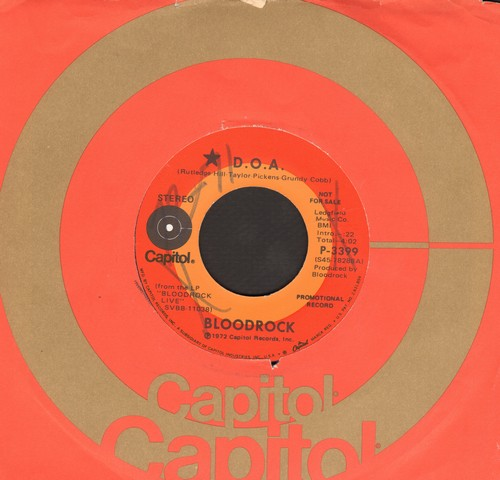 Bloodrock - D.O.A./Castle Of Thoughts (DJ COPY) (WOL) - EX8/ - 45 rpm Records