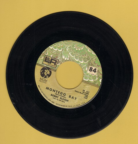 Bloom, Bobby - Montego Bay/Try A Little Harder - EX8/ - 45 rpm Records
