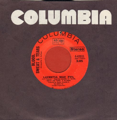 Blood, Sweat & Tears - Lucricia Mac Evil/Lucritia's Reprise (with columbia company sleeve) (bb) - NM9/ - 45 rpm Records