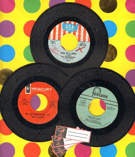 Blues Magoos, Buckinghams, Wayne Fontana & The Mindbenders - 60's Psychedelic 3-Pack. First issues include hits Game Of Love, Kind Of A Drag and We Ain't Got Nothin' Yet (shipped in plain paper sleeves and 4 blank juke box labels) - EX8/ - 45 rpm Records