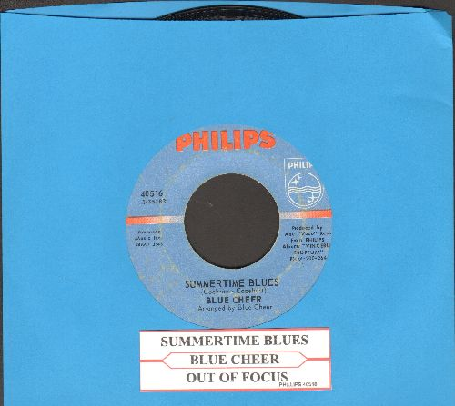 Blue Cheer - Summertime Blues/Out Of Focus (with juke box label) - EX8/ - 45 rpm Records
