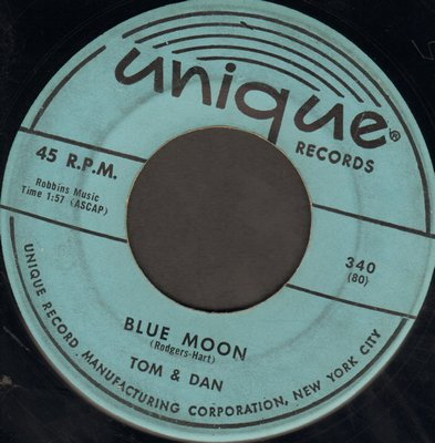 Tom & Dan - Heart And Soul/Blue Moon  - VG7/ - 45 rpm Records