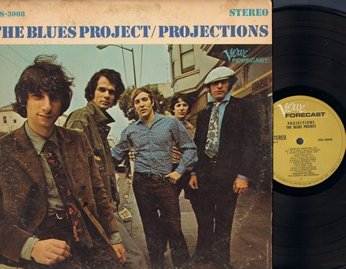 Blues Project - Projections: I Can't Keep From Crying, You Can't Catch Me, Wake Me Shake Me, Caress Me Baby (Vinyl STEREO LP record) - EX8/VG7 - LP Records