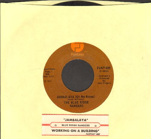Blue Ridge Rangers - Jambalaya (On The Bayou)/Workin' On A Building (with juke box label) - EX8/ - 45 rpm Records