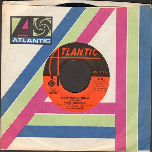 Blues Brothers - Perry Mason Theme/Who's Making Love (with Atlantic company sleeve) - EX8/ - 45 rpm Records