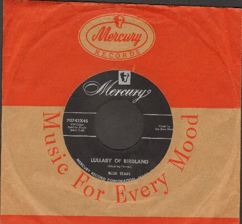 Blue Stars - Lullaby Of Birdland/That's My Girl (Vocal Jazz 2-sider, US Pressing, sung in French)(with vintage Mercury company sleeve) - EX8/ - 45 rpm Records