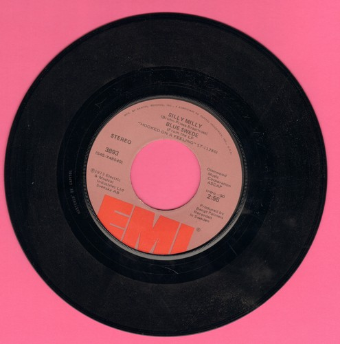 Blue Swede - Silly Milly/Lonely Sunday Afternoon - NM9/ - 45 rpm Records