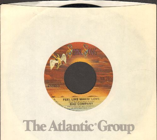 Bad Company - Feel Like Makin' Love/Wild Fire Woman (with Atlantic company sleeve) - EX8/ - 45 rpm Records