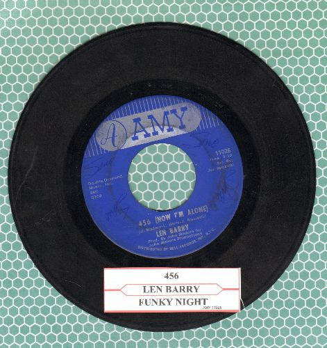 Barry, Len - 456 (Now I'm Alone)/Funky Night (with juke box label) - VG7/ - 45 rpm Records