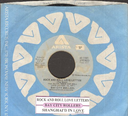 Bay City Rollers - Rock And Roll Love Letter/Shanghai'd In Love (with juke box label and Arista company sleeve) - EX8/ - 45 rpm Records