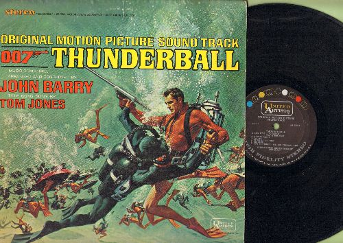 Barry, John, Tom Jones - Thunderball - Original Motion Picture Sound Track featuring Score by John Barry with Title Song by Tom Jones (Vinyl STEREO LP record) - EX8/EX8 - LP Records