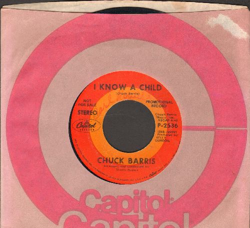 Barris, Chuck - I Know A Child/Too Rich (RARE Novelty 2-sider by the Legendary TV Game Show Host, with Capitol company sleeve) - VG6/ - 45 rpm Records
