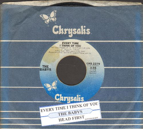 Babys - Every Time I Think Of You/Head First (with juke box label and company sleeve) - EX8/ - 45 rpm Records