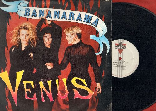 Bananarama - Venus (7:20 Extended Version)/Venus (8:15 Dub Version)/White Train (3:51) (12 inch vinyl Maxi Single with picture cover) - EX8/EX8 - Maxi Singles