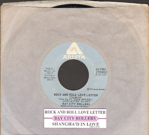 Bay City Rollers - Rock And Roll Love Letter/Shanghai'd In Love (with juke box label and Arista company sleeve) - NM9/ - 45 rpm Records