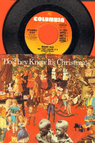 Band Aid - Do They Know It's Christmas?/Feed The World (with picture sleeve) - NM9/EX8 - Maxi Singles