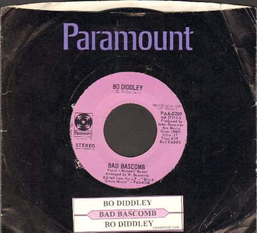 Bascomb, Bad - Bo Diddley (DJ advance pressing with MONO and STEREO company sleeve and juke box label) - EX8/ - 45 rpm Records