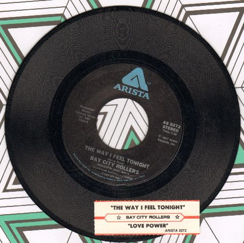 Bay City Rollers - The Way I Feel Tonight/Love Power (with juke box label) - VG7/ - 45 rpm Records