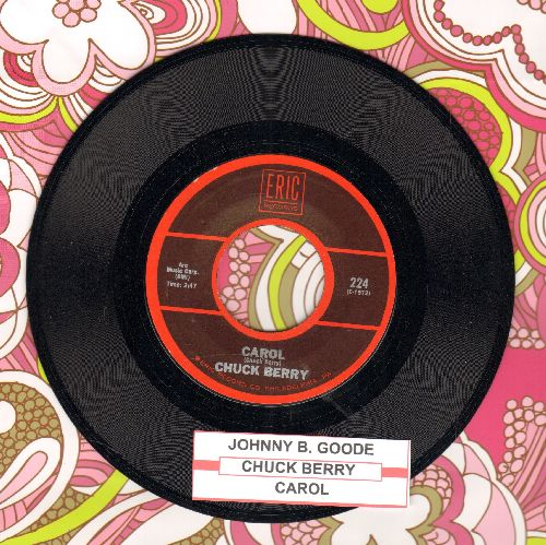 Berry, Chuck - Johnny B. Goode/Carol (double-hit re-issue with juke box label) - NM9/ - 45 rpm Records