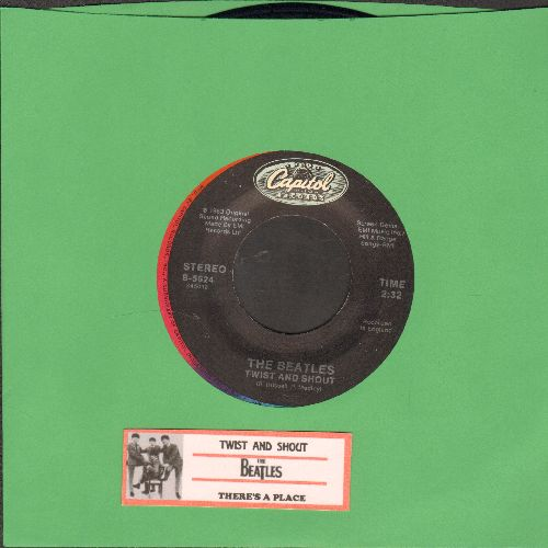 Beatles - Twist And Shout/There's A Place (re-issue with juke box label) - NM9/ - 45 rpm Records