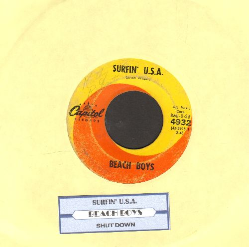 Beach Boys - Surfin' U.S.A./Shut Down (with juke box label) - VG6/ - 45 rpm Records