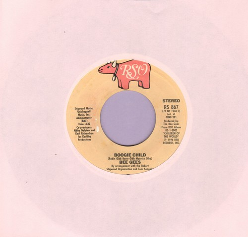 Bee Gees - Boogie Child/Lovers (with juke box label) - NM9/ - 45 rpm Records