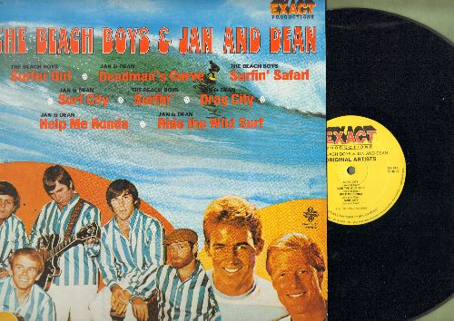 Beach Boys & Jan And Dean - The Beach Boys & Jan And Dean: Surfer Girl, Surfin' Safari, Help Me Rhonda, Ride The Wild Surf (vinyl STEREO LP record, 1981 pressing) - NM9/NM9 - LP Records
