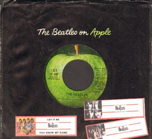 Beatles - Let It Be/You Know My Name (Look Up My Number) (with juke box label and Apple company sleeve) - EX8/ - 45 rpm Records