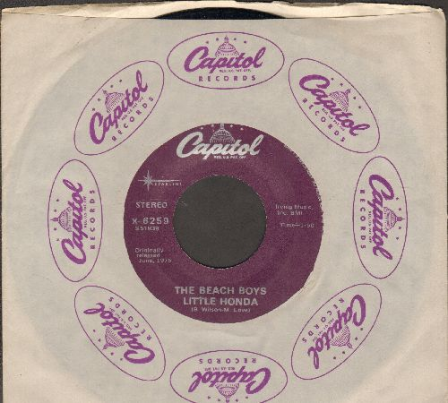 Beach Boys - Little Honda/Barbara Ann (double-hit re-issue with Capitol company sleeve) - EX8/ - 45 rpm Records