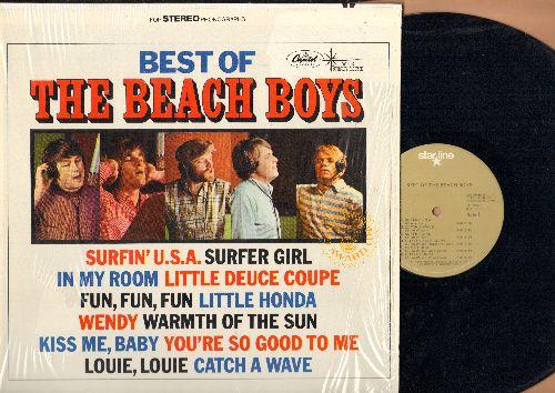 Beach Boys - Best Of The Beach Boys: Surfin' U.S.A., Surfer Girl, Little Deuce Coupe, Fun Fun Fun, Wendy, Little Honda (vinyl STEREO LP record,  1980s pressing) - NM9/NM9 - LP Records