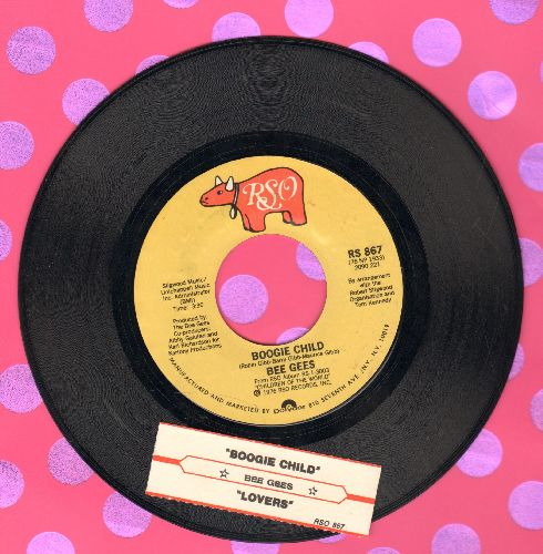 Bee Gees - Boogie Child/Lovers (with juke box label) - EX8/ - 45 rpm Records