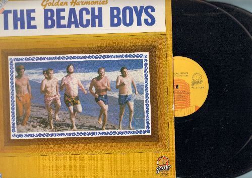 Beach Boys - Golden Harmonis: Surfin' U.S.A., Help Me Rhonda, Do You Wanna Dance, Sloop John B. (2 vinyl LP records, re-issue of vintage recordings) - NM9/NM9 - LP Records