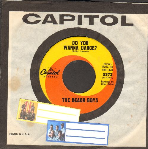 Beach Boys - Do You Wanna Dance/Please Let Me Woner (with Capitol company sleeve) - NM9/ - 45 rpm Records