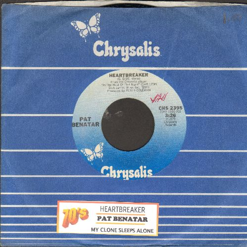 Benatar, Pat - Hit Me With Your Best Shot/Prisoner Of Love (with juke box label and Chrysalis company sleeve) - NM9/ - 45 rpm Records