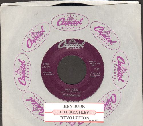 Beatles - Hey Jude/Revolution (re-issue with juke box label and Capitol company sleeve) - NM9/ - 45 rpm Records