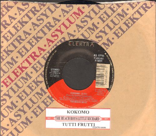 Beach Boys - Kokomo/Tutti Frutti (by Little Richard on flip-side) (both songs featured in film -Cocktail-, with juke box label and company sleeve) - EX8/ - 45 rpm Records