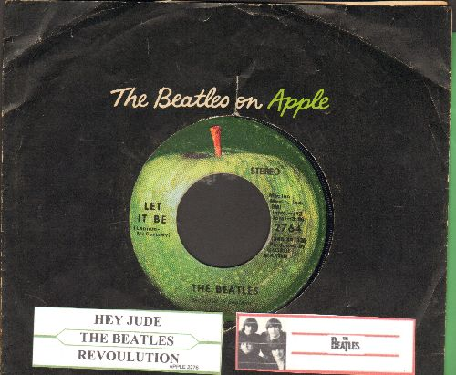 Beatles - Let It Be/You Know My Name Look Up My Number (with juke box label and Apple company sleeve) - EX8/ - 45 rpm Records
